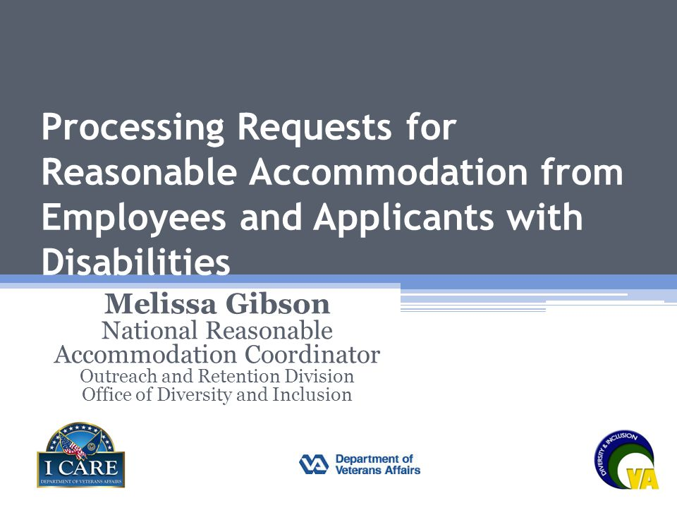 Processing Requests for Reasonable Accommodation from Employees and Applicants with Disabilities