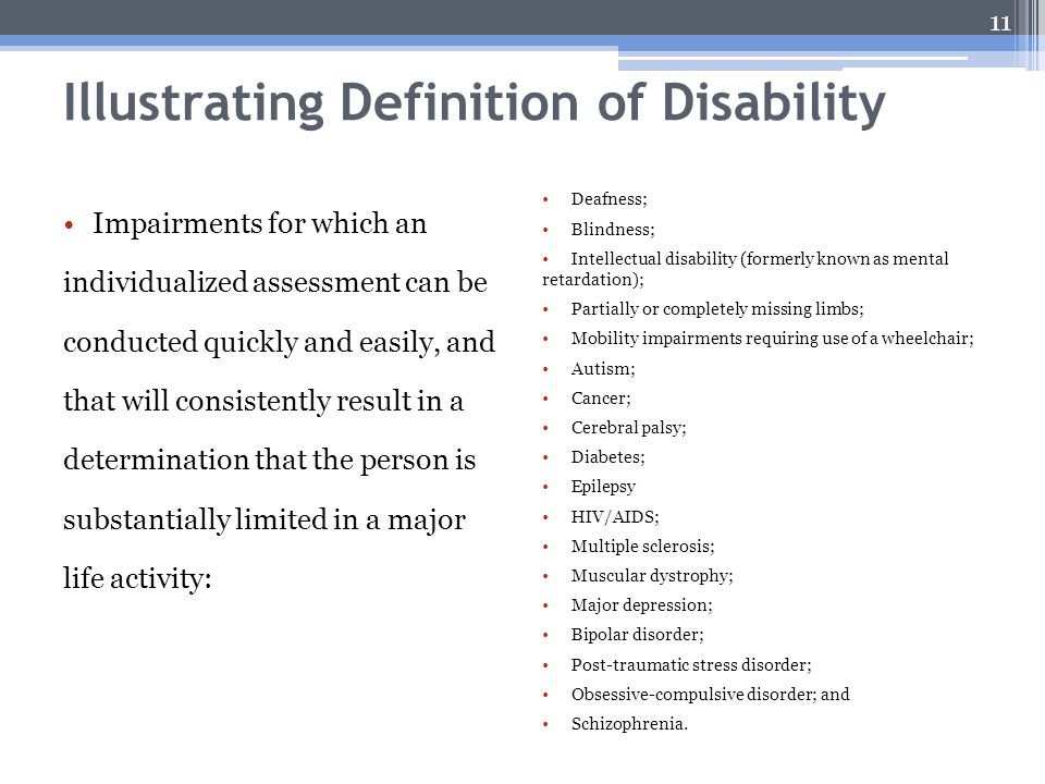 Illustrating Definition of Disability