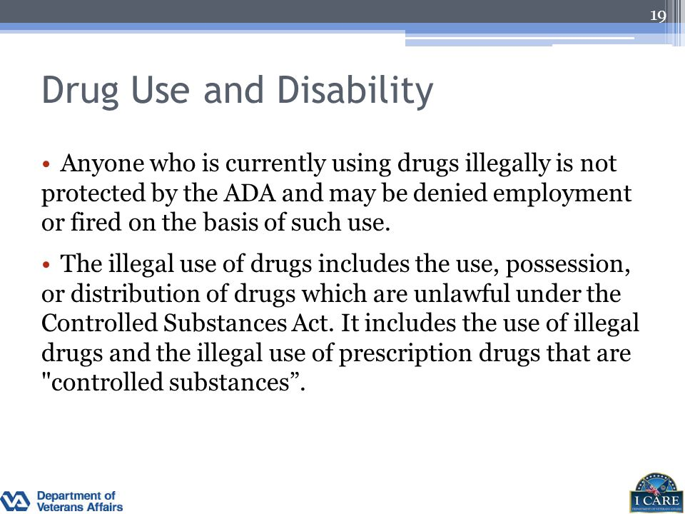 Drug Use and Disability
