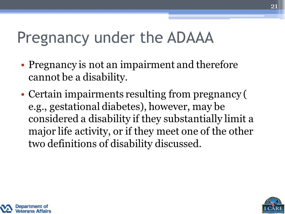 Pregnancy under the ADAAA