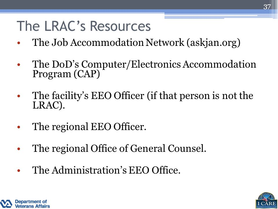 The LRAC's Resources The Job Accommodation Network (askjan.org)