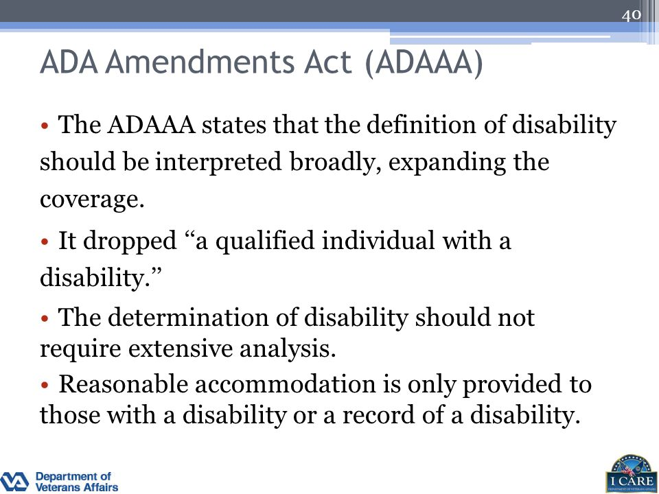 ADA Amendments Act (ADAAA)