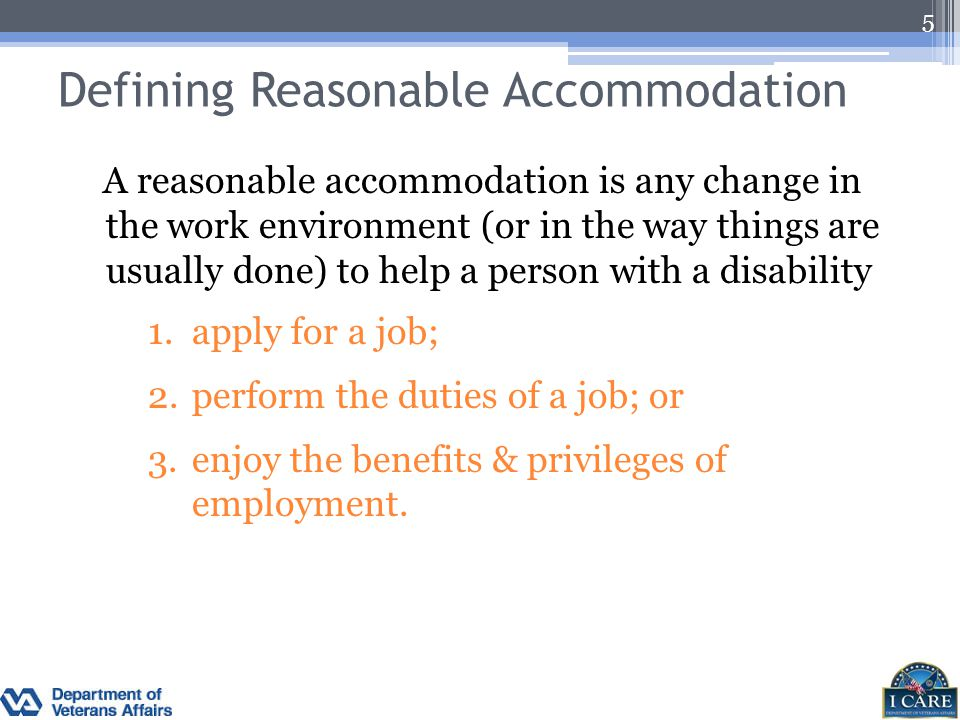 Defining Reasonable Accommodation