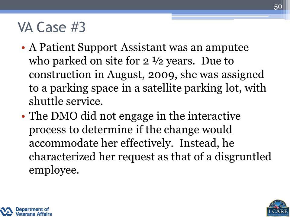 VA Case #3