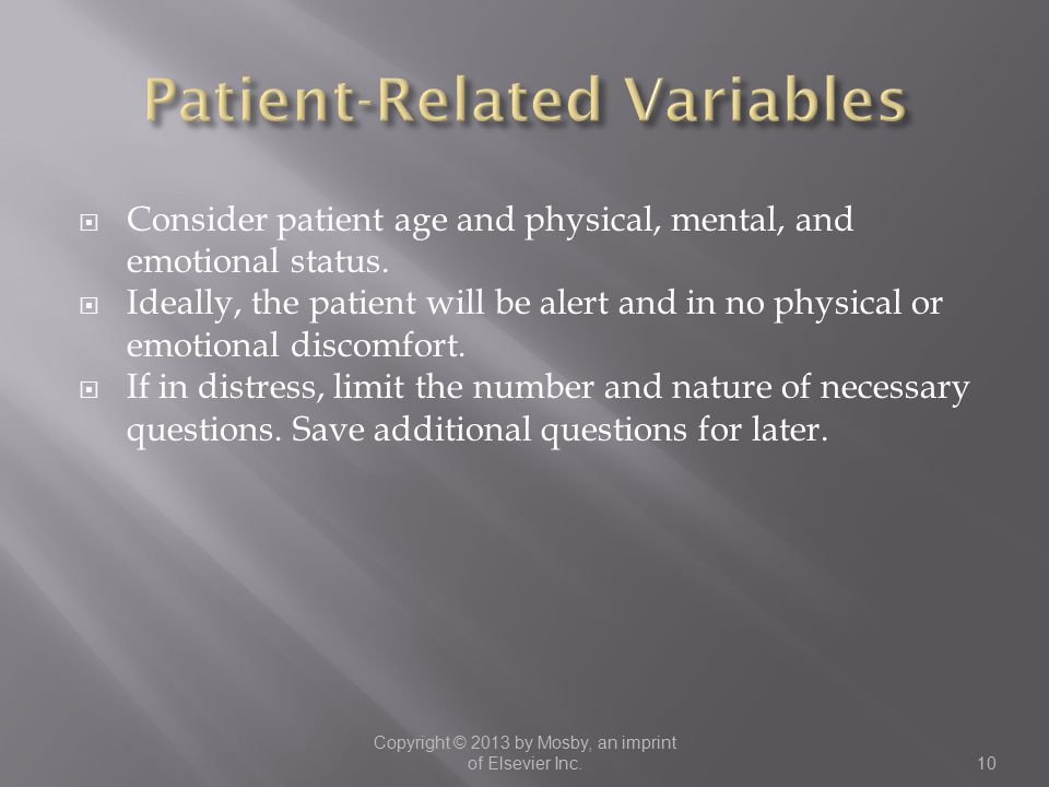 Patient-Related Variables