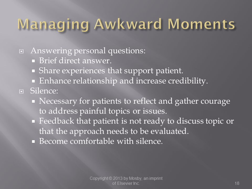Managing Awkward Moments