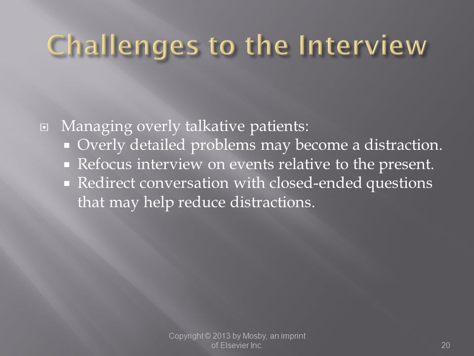 Challenges to the Interview