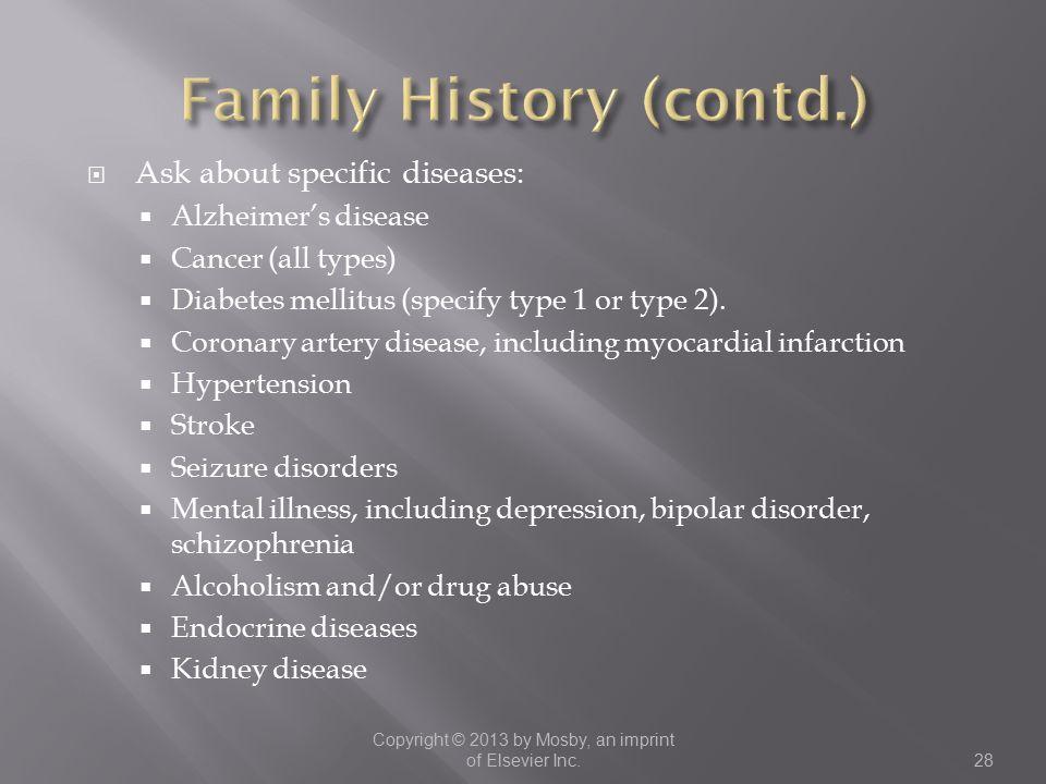 Family History (contd.)