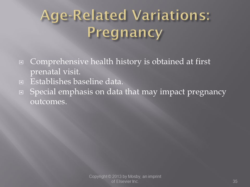 Age-Related Variations: Pregnancy