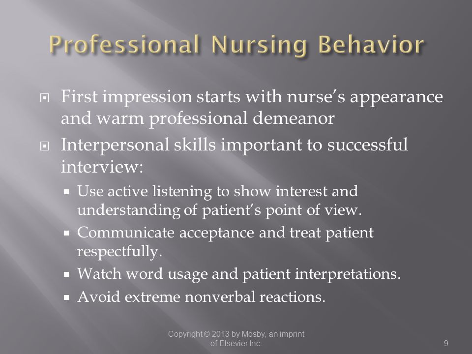 Professional Nursing Behavior