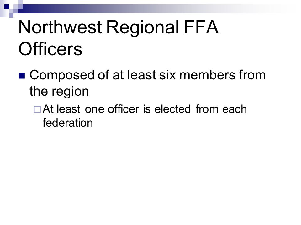 Northwest Regional FFA Officers