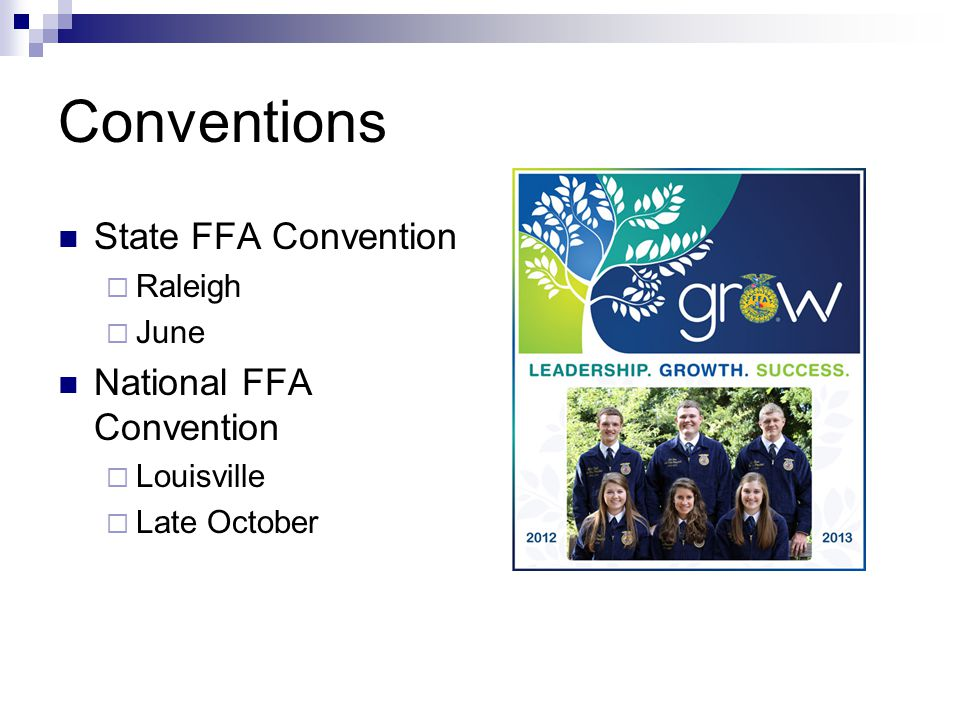 Conventions State FFA Convention National FFA Convention Raleigh June