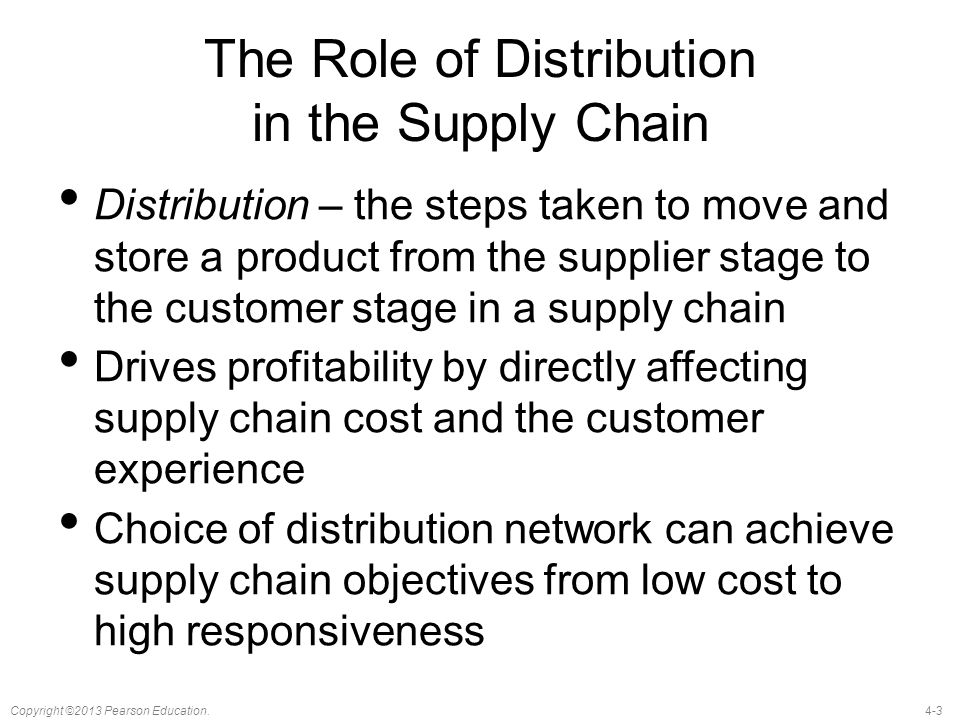 The Role of Distribution in the Supply Chain