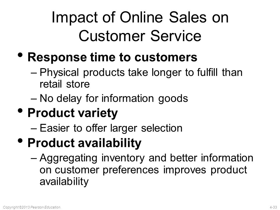 Impact of Online Sales on Customer Service