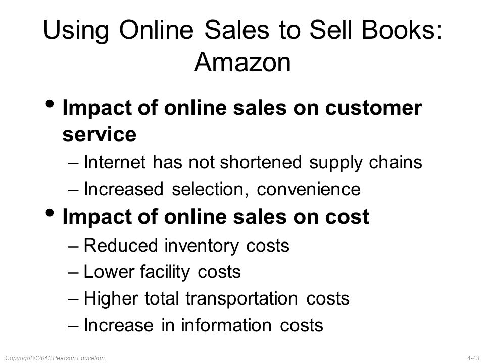 Using Online Sales to Sell Books: Amazon