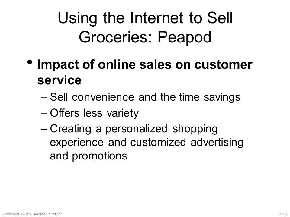 Using the Internet to Sell Groceries: Peapod