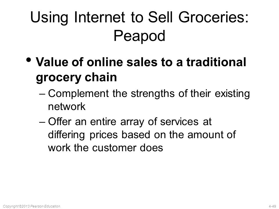 Using Internet to Sell Groceries: Peapod