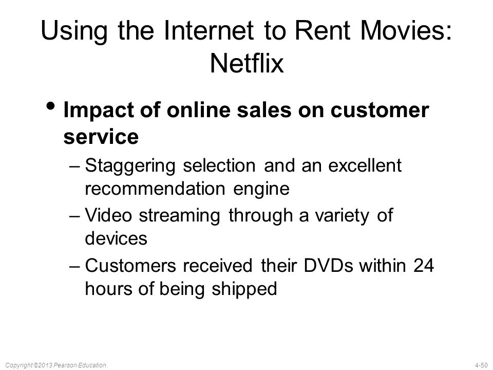 Using the Internet to Rent Movies: Netflix