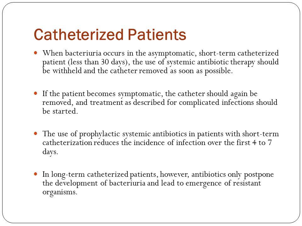 Catheterized Patients