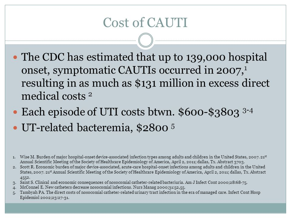 decreasing catheter associated urinary tract infections essay O = reduce then rate of catheter,-associated urinary tract infections t = over a patient's hospital stay period for adult patients with an indwelling urinary catheter under long term acute care, will the implementation of a nursing-driven urinary catheter protocol on admission compared to no protocol reduce then rate of catheter associated urinary.