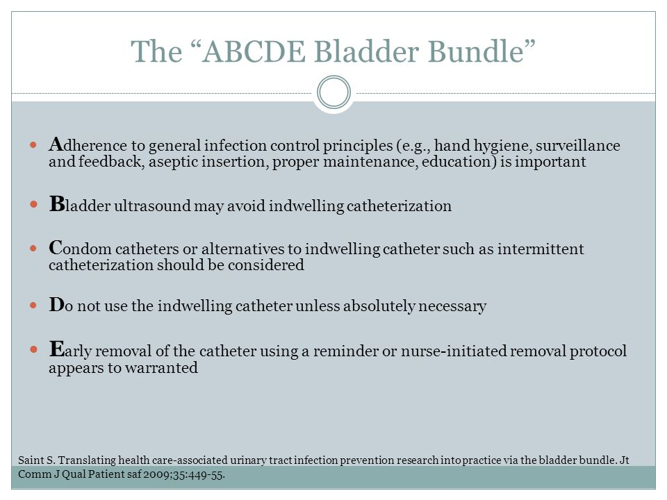 The ABCDE Bladder Bundle