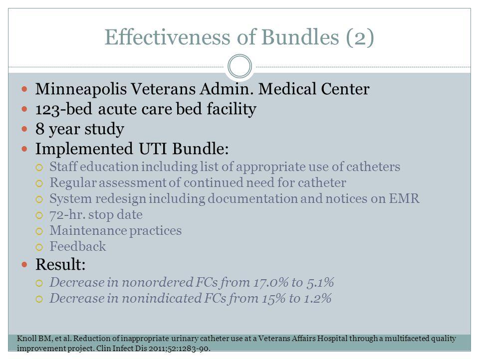 Effectiveness of Bundles (2)
