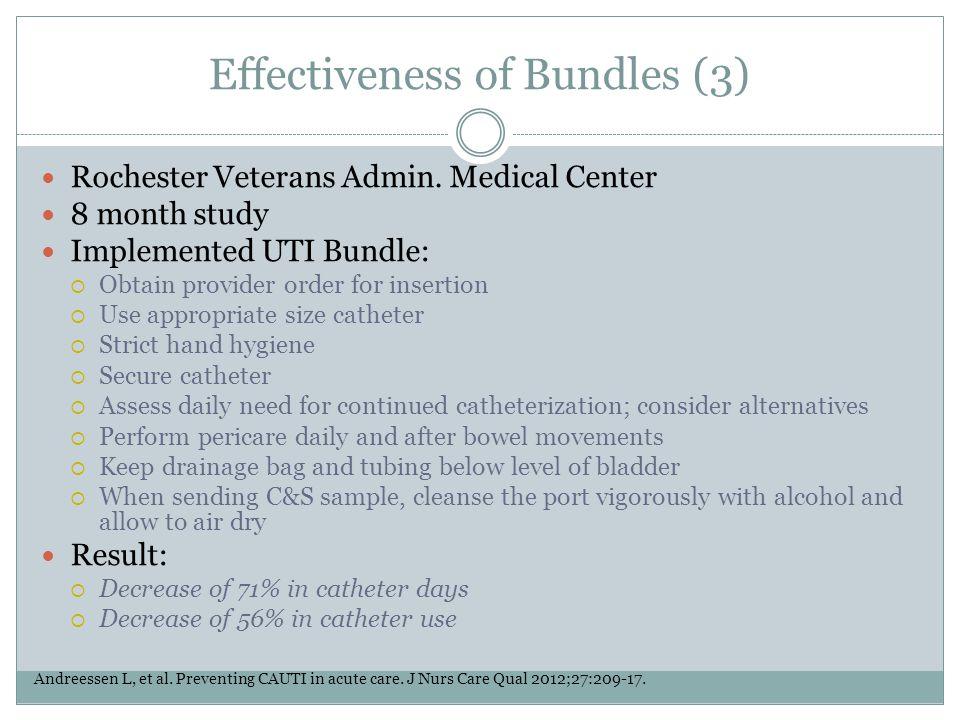 Effectiveness of Bundles (3)