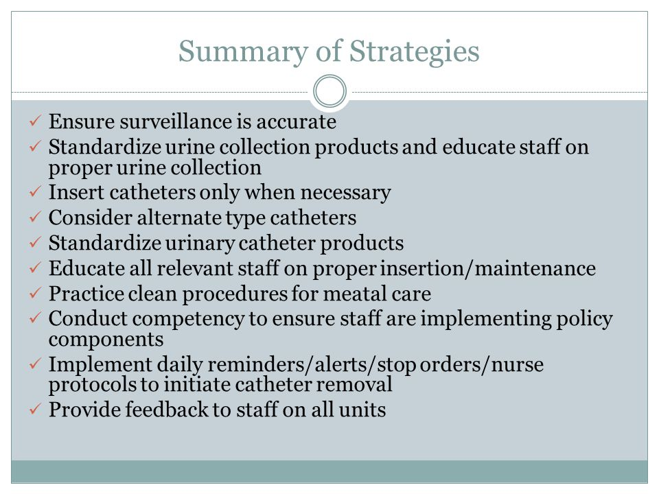 Summary of Strategies Ensure surveillance is accurate