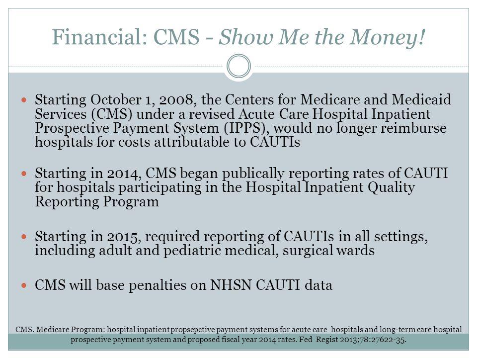 Financial: CMS - Show Me the Money!