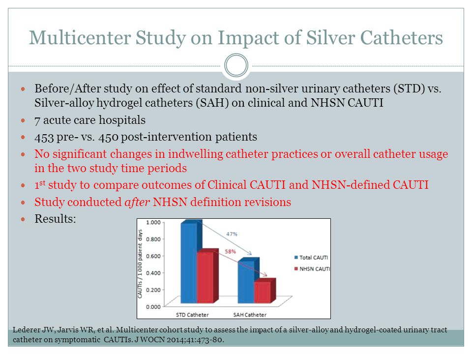 Multicenter Study on Impact of Silver Catheters