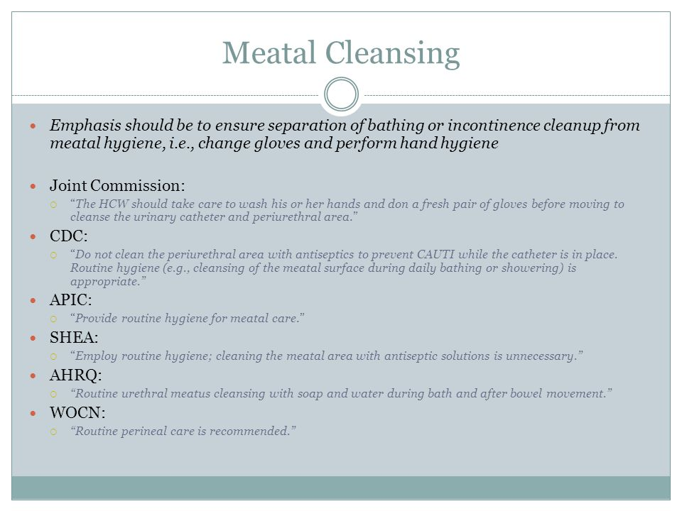 Meatal Cleansing