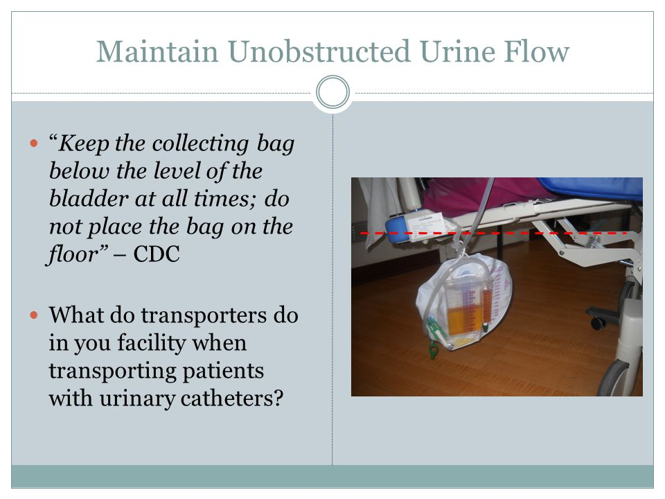 Maintain Unobstructed Urine Flow
