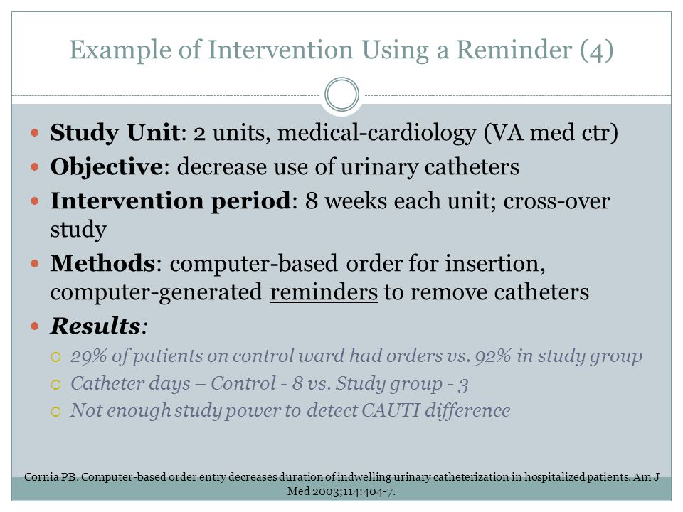 Example of Intervention Using a Reminder (4)