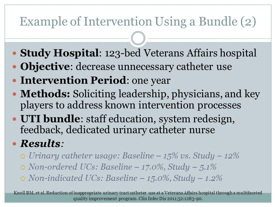 Example of Intervention Using a Bundle (2)