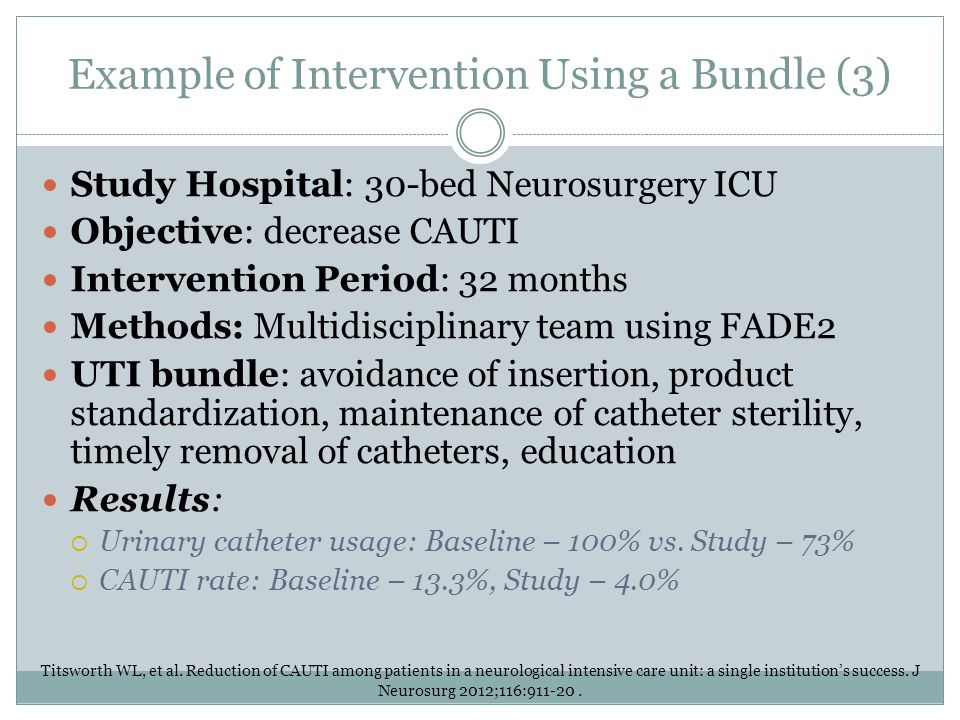 Example of Intervention Using a Bundle (3)