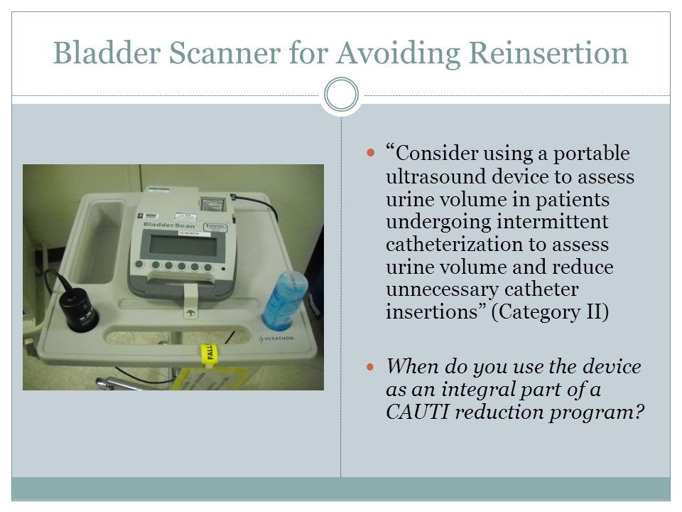 Bladder Scanner for Avoiding Reinsertion