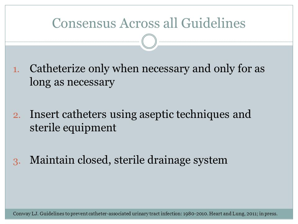 Consensus Across all Guidelines