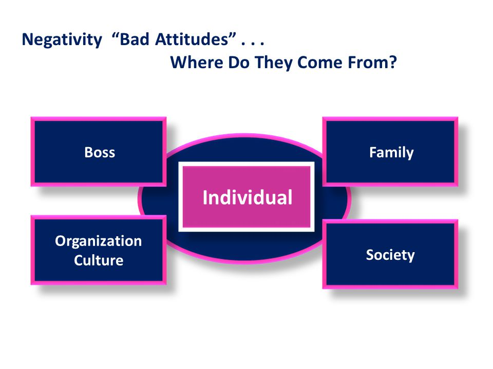 Negativity Bad Attitudes . . . Where Do They Come From