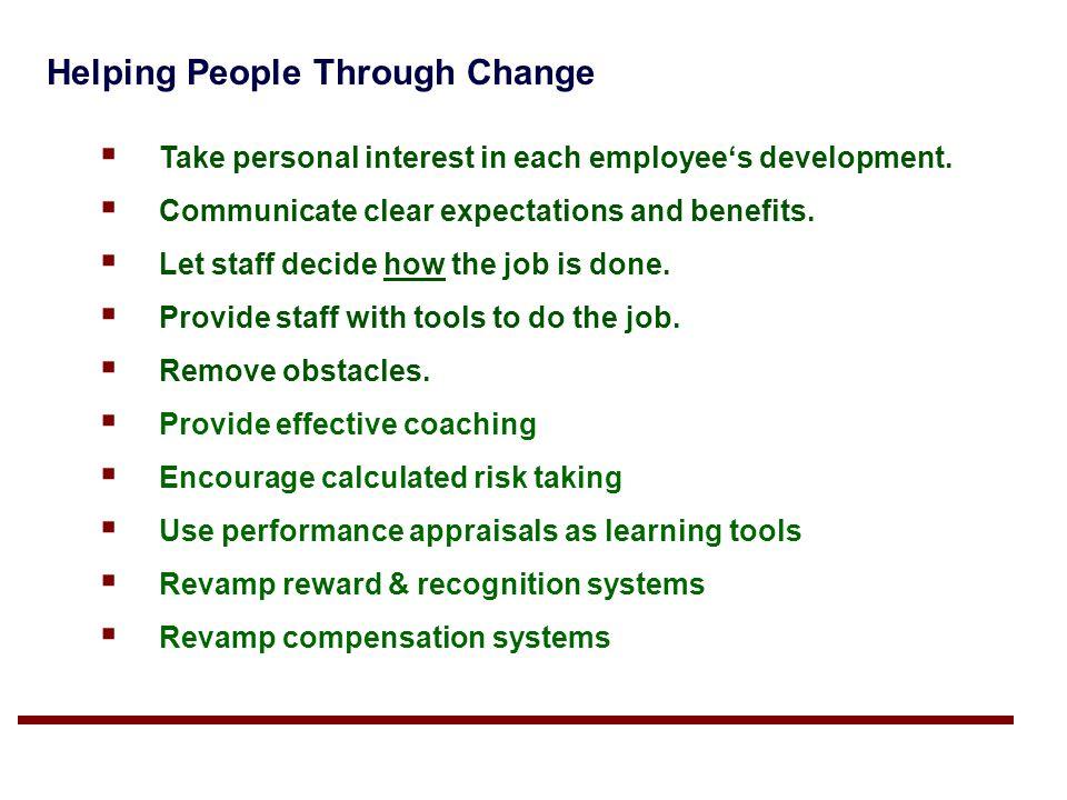 Helping People Through Change