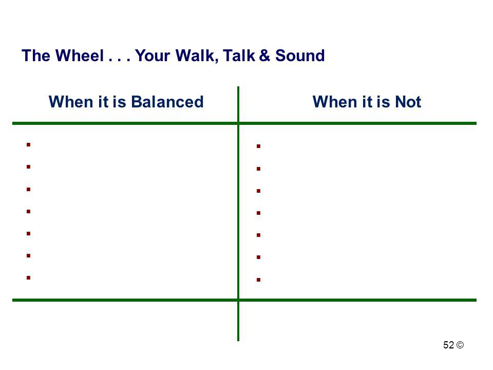 The Wheel . . . Your Walk, Talk & Sound