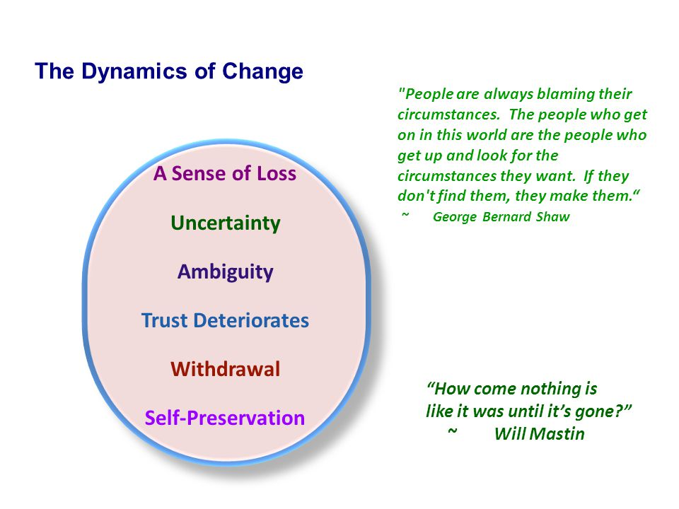 The Dynamics of Change Uncertainty Ambiguity Trust Deteriorates
