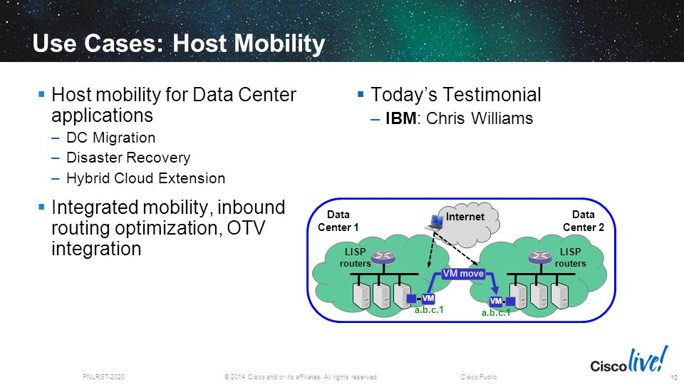 Use Cases: Host Mobility