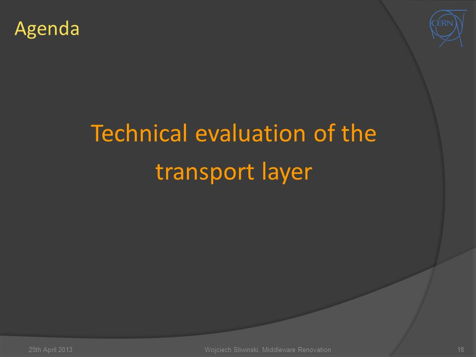 Technical evaluation of the transport layer