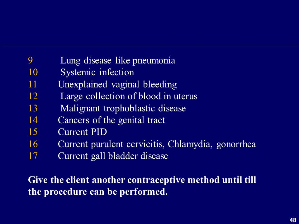 9 Lung disease like pneumonia