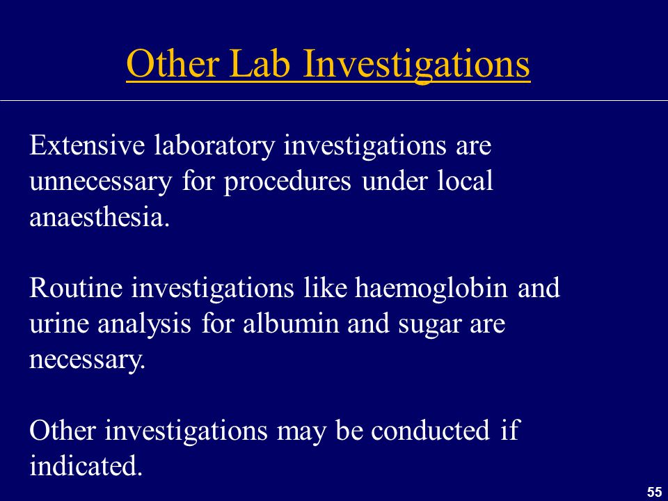 Other Lab Investigations