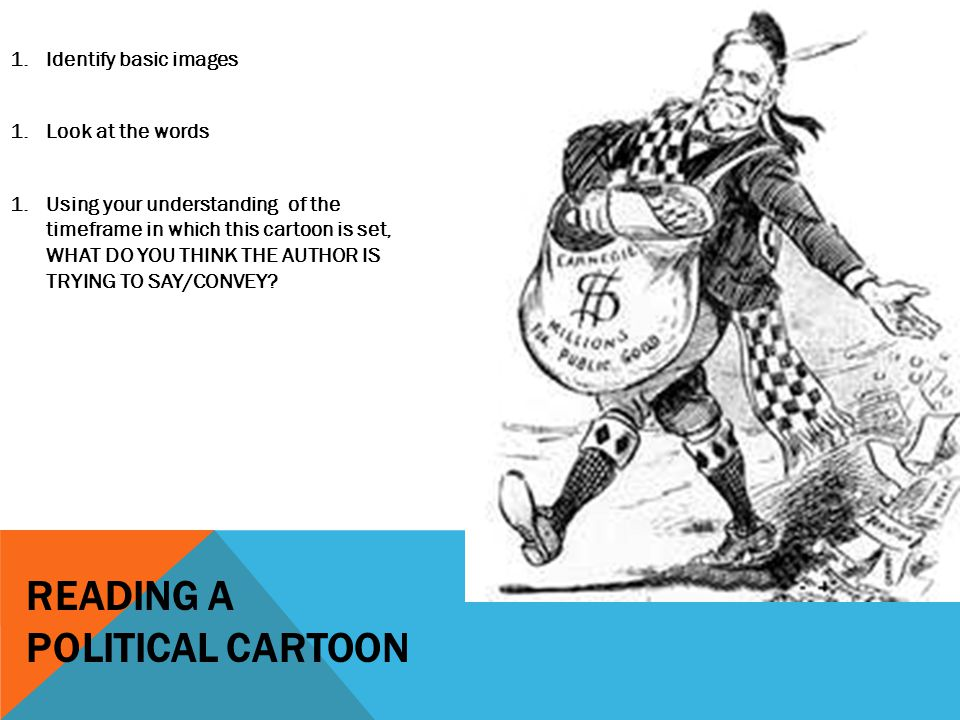 Reading a political cartoon
