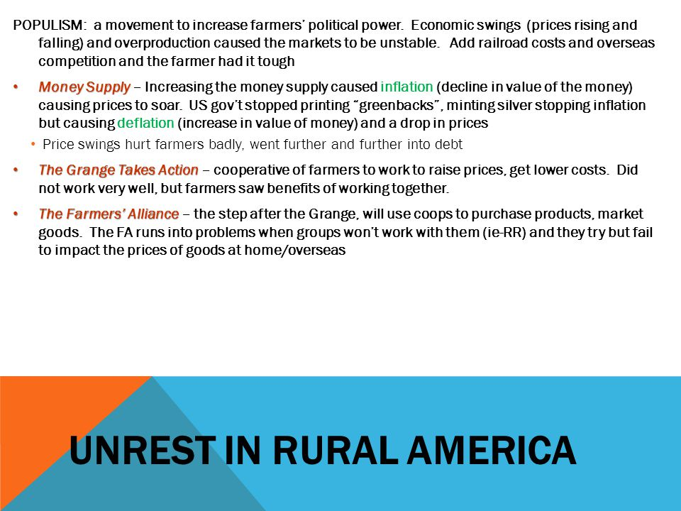 Unrest in rural america