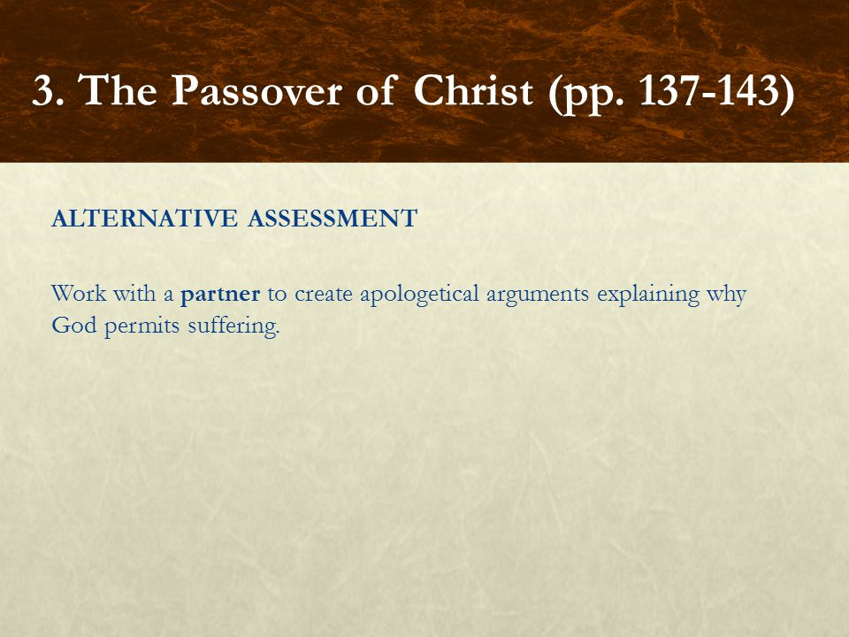 3. The Passover of Christ (pp. 137-143)