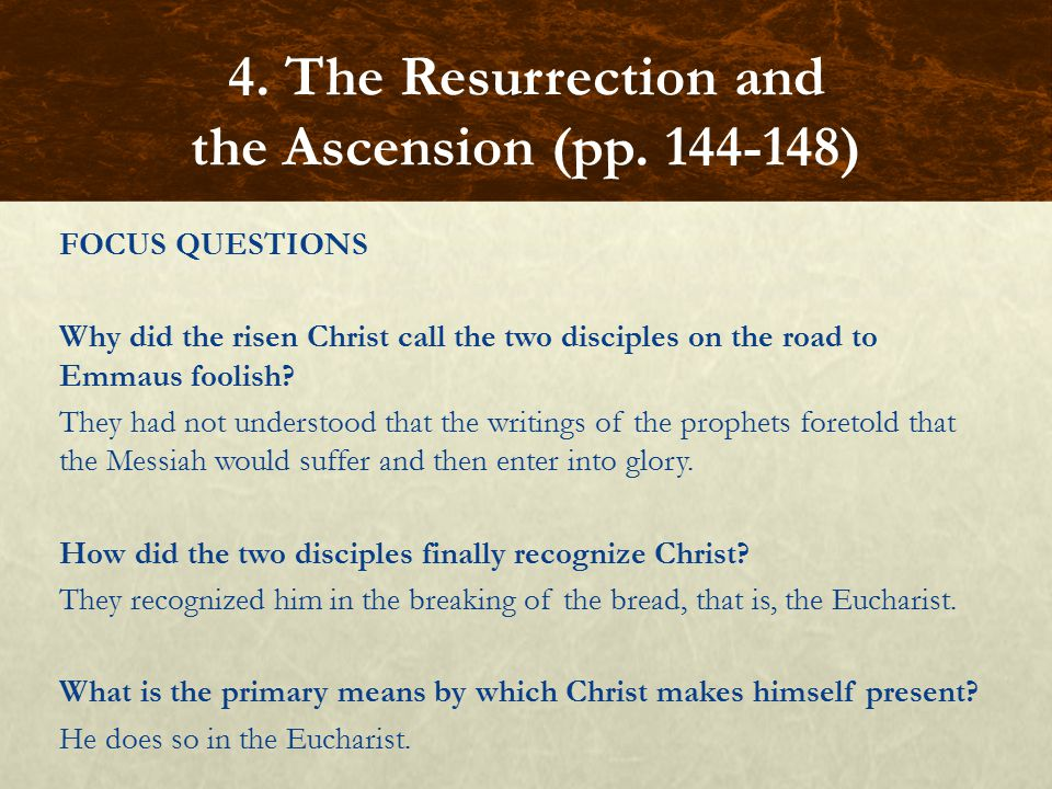 4. The Resurrection and the Ascension (pp. 144-148)