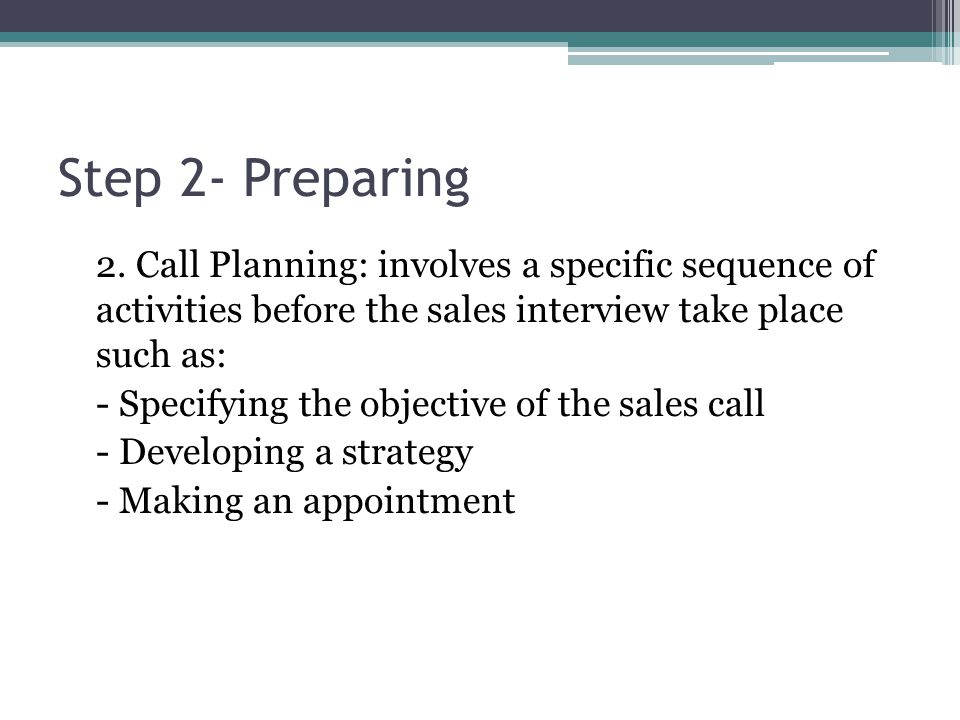 Step 2- Preparing